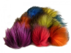 Dyed Silver Fox Tail Offcuts