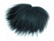 Black Pro Grade Silver Fox Tail